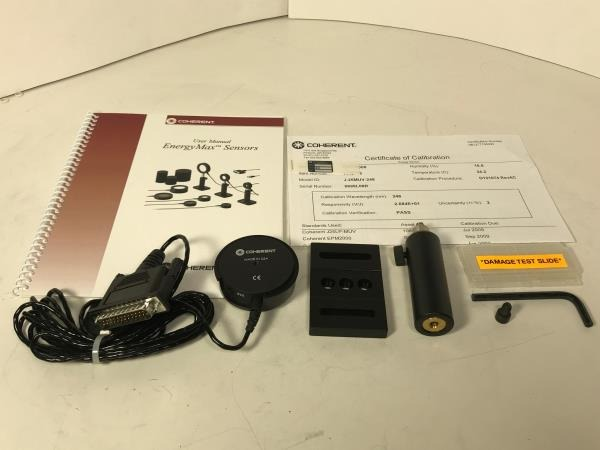 Coherent EnergyMax J25-MUV Detector Kit Contents